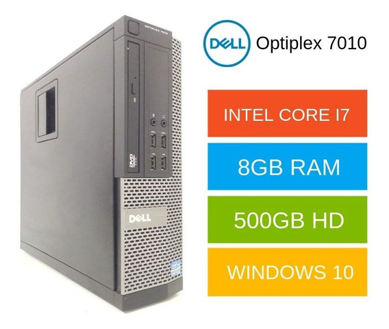 Cpu Dell Core I7 3° Ger. 8gb Hd500 Parcele Sem Juros