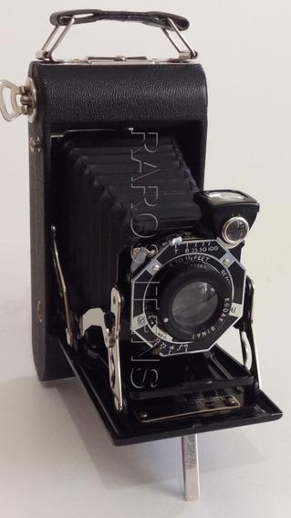Câmera Fotográfica Eastman Kodak Co. Junior Six 16 Series I I 1937 Câmera Dobrável Excelente Estado U S A