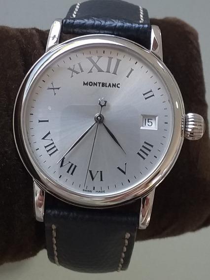 Relógio Montblanc 7042 Meisterstuck Quartz (ler Descrição)