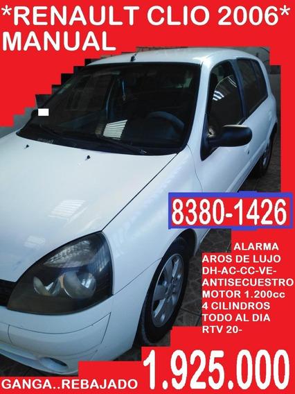 Renault Clio 2006 Hb - ..1.925.000 Negocio Contado- Recibo::
