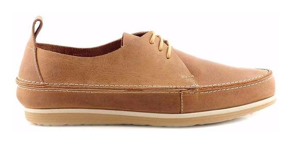 Zapato Hombre Acordonado Cuero Briganti De Goma - Hcac00883