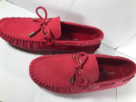 Mocasín Louis Vuitton Grabado Rojos