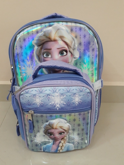 Mochila Con Lonchera Frozen 2. Envío Gratis.