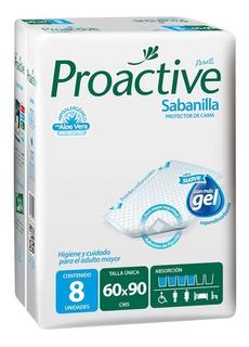 Sabanilla Proactive - Paquete 8 Un Gel Absorción - Adultcare