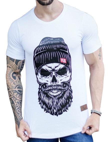 Camiseta Camisa Oversized Longline Masculina Swag Barra Oval