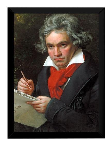 Lindo Quadro Decorativo Arte E Musica Classica Beethoven