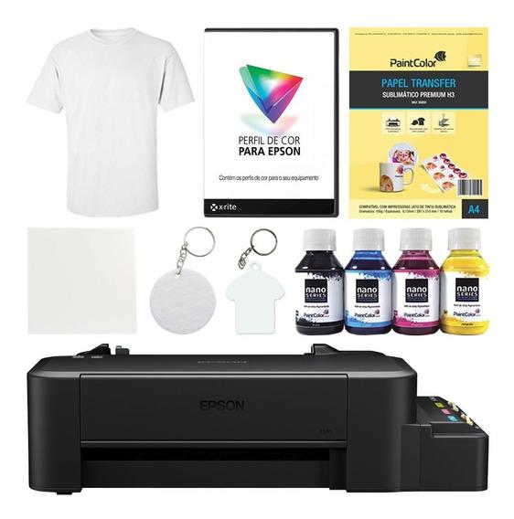Impressora L120 Sublimática + Kit Completo De Produtos Light