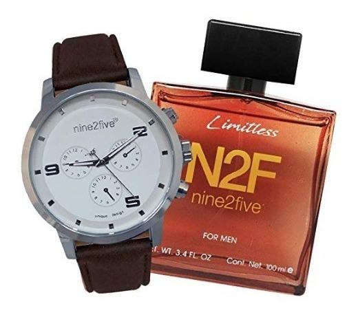 Reloj Nine2five Set Con Fragancia Para Hombres 46mm