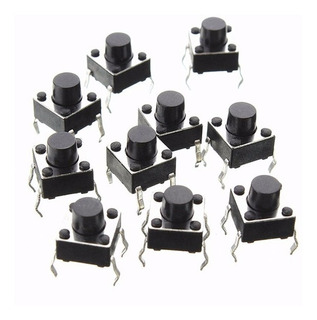 Pack 10 Boton Pulsador Tact Switch 6mmx6mm Arduino Nubbeo