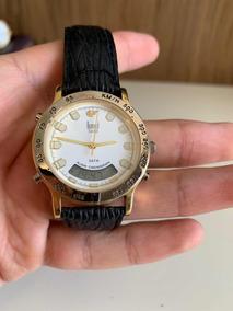 Relógio Dumont Saab Masculino Alarme Cronógrafo Dg10218