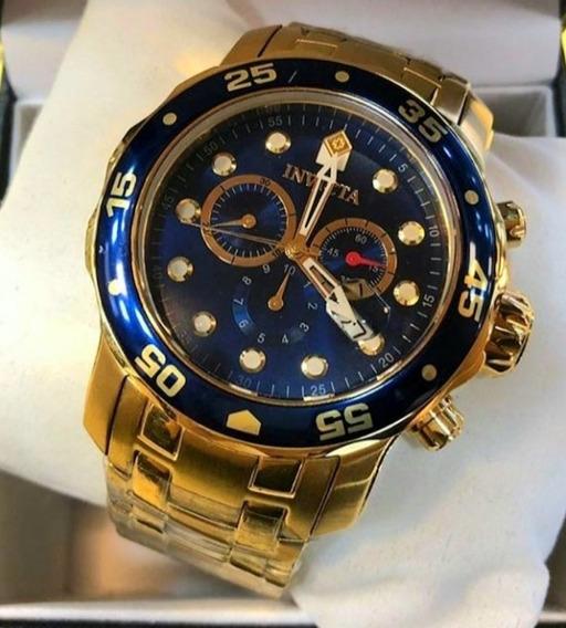 Relógio Invicta Pro Diver 0073 - Azul (usado) Frete Grátis
