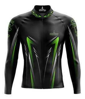 Camisa Ciclismo Manga Longa Ziper Longo Uv 50spartan Ref06