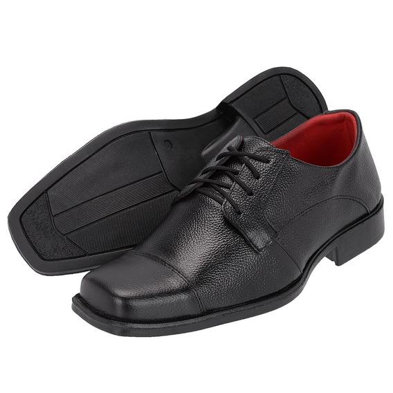 Sapato Social Em Couro Adulto De Cadarço 825 Pronta Entreg