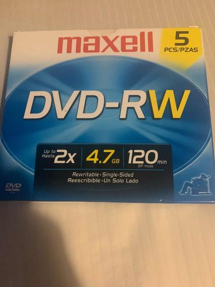Dvd -rw Caja 5 Piezas Sellada Original Marca Maxell