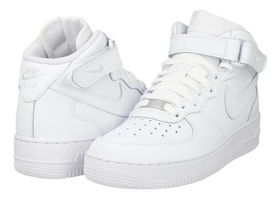 Tenis Nike Air Force 1 Mid Blanco Originales Nuevos En Caja