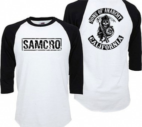 Playera Sons Of Anarchy Samcro Soa Tipo Ranglan Hombre