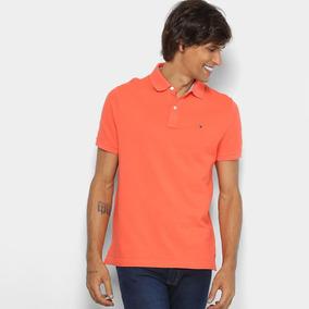 9b0dfc61cb6 Camisa Polo Tommy Hilfiger Básica Masculina - Cor Coral