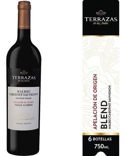 Imagen 1 de 5 de Vino Terrazas De Los Andes Apelación Par. Altamira 6ux750ml