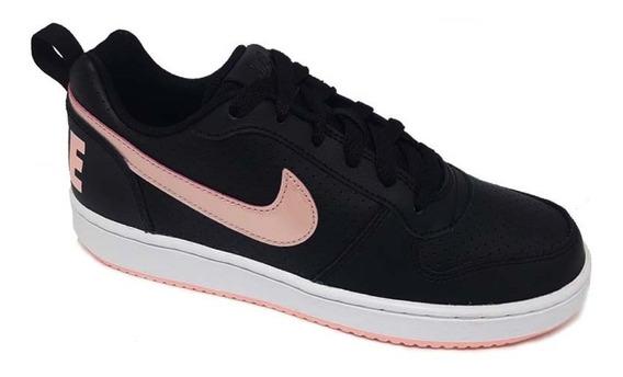 Tênis Nike Feminino Court Borough Low - Preto/rosa