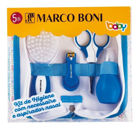 Kit De Higiene Baby Com Necessaire E Aspirador Nasal
