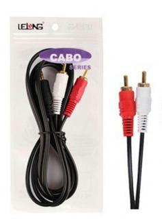 Cabo De Audio P2 X Rca/ 1.5 Metros/ Marca Lelong