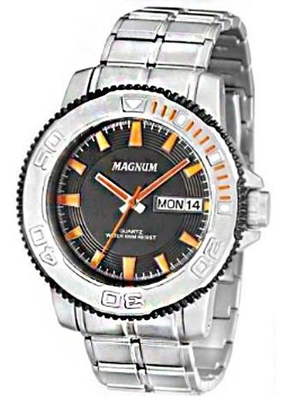 Relógio Magnum Masculino Original Aço Inoxidável Ma33255j