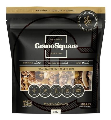 Kit 2 Un Granola Premium Tradicional 400g Grano Square Vegan