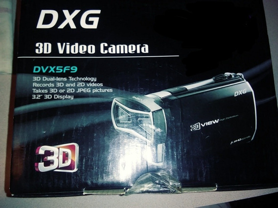Cámara De Video 3d Grabadora Dxg Nueva Con Accesorios