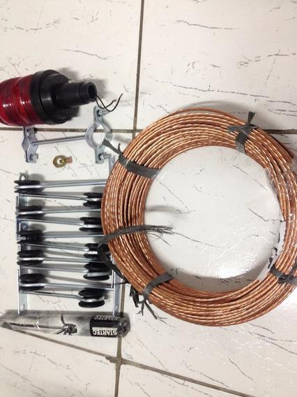 Kit Para Raios- 20 Mts Cobre 25mm + Acessorios