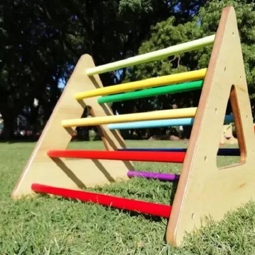 Trepador Triángulo Arcoíris - Juego Montessori - Lakalumba