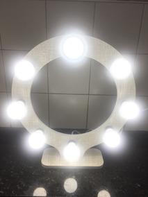 Ring Light 100% Mdf -08 Lâmpadas - Destaque Suas Maquiagens!
