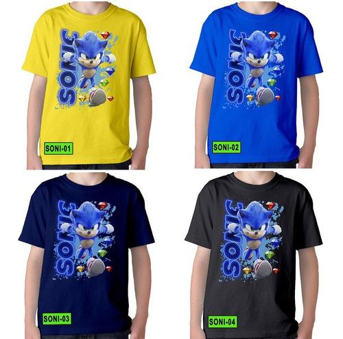 Camisetas Niños De Sonic Mickey Paw Patrol Dragonball Y Mas