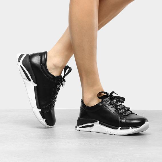 Tênis Chunky Feminino Daddy Sneaker Cadarço Personalizado