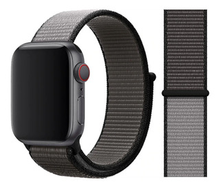Pulseira Nylon Sport Loop P/ Apple Watch 42/44mm Anchor Gray