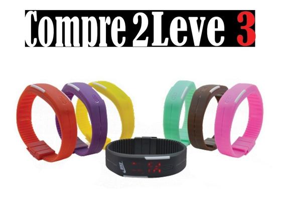 Relógio Led Digital Sport Silicone Compre 2 Leve 3