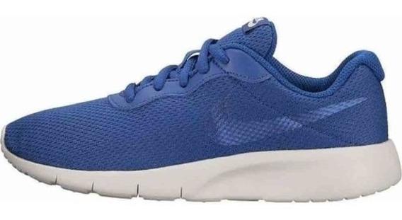 Tenis Dama Nike Tanjun Corre Gimnasio Mujer Gym Azul