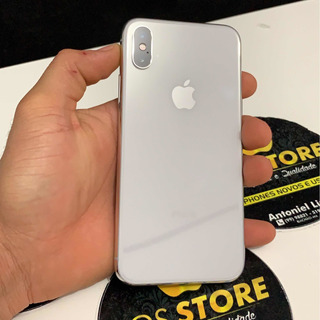 iPhone X Silver 256gb Seminovo