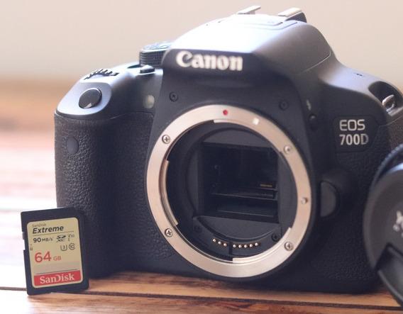 Corpo Câmera Canon Eos700d + Cartão 64gb