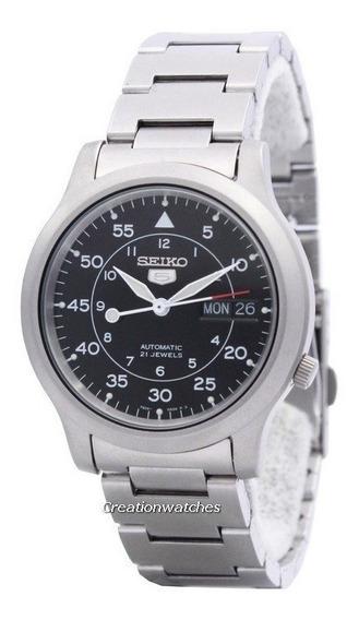 Seiko 5 Snk Kit 3 - Relógio, Pulseira Adic E Perícula