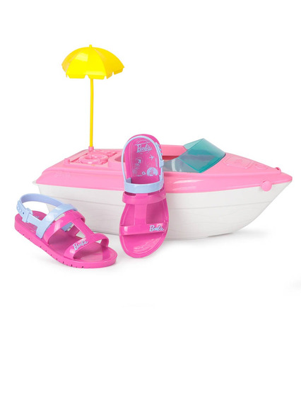 Sandália Rasteira Infantil Grendene Barbie