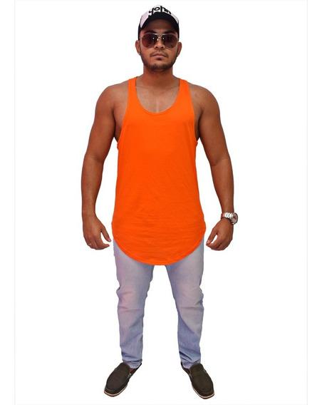 Camiseta Kit 5 Regata Masculina Longline Oversized Swag