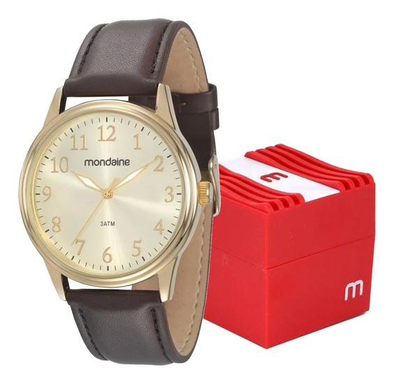 Relógio Mondaine Masculino Pulseira Couro Análogico Original