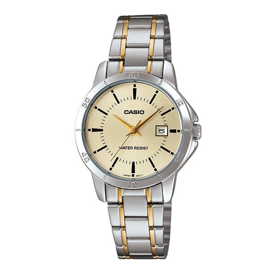 Relógio Analógico Feminino Casio Ltp-v004sg-9audf