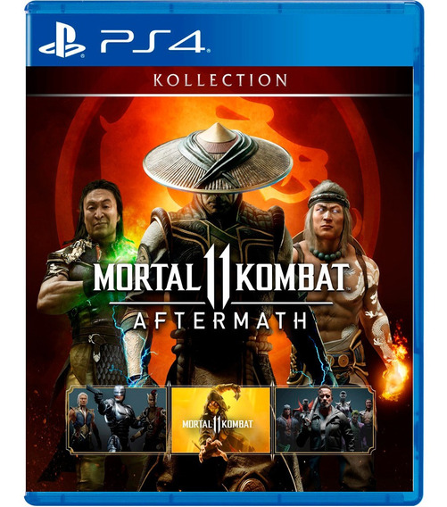 Mortal Kombat 11 Koleção Aftermath Midia Dig Ps4 2 - Dublad