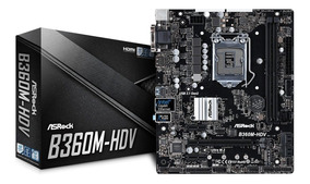 Placa Mãe Asrock B360m-hdv Intel 1151 Ddr4 8ª Geração B360