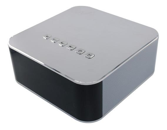 Caixa De Som Bluetooth Com Relogio At-126 Prata