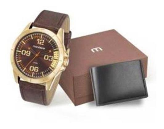 Kit Relógio Masculino Mondaine 76702gpmvdh1k1 C/ Carteira