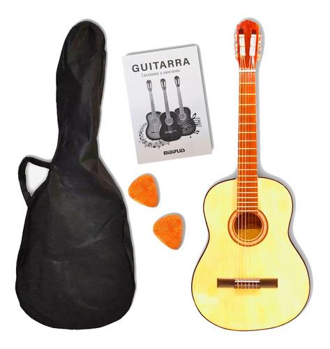 Guitarra Criolla 3/4 Niños Clásica Con Funda Colores Promo