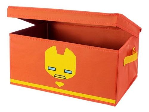 Imagem 1 de 4 de Caixa Organizadora Com Tampa Marvel Miniso - Homem De Ferro