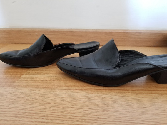 Zapatos Mules Chatas Zueco Ash T39 Negras